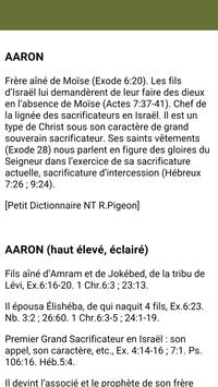 Dictionnaire de la Bible apk screenshot