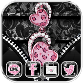 Diamond Leopard Theme Zipper Lock Screen icon