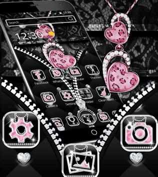 Diamond Leopard Theme Zipper Lock Screen apk screenshot