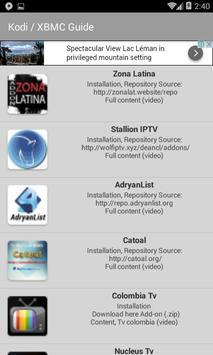 Kodi / XBMC Guide apk screenshot