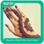 Awesome Mehndi Back Hand Design icon