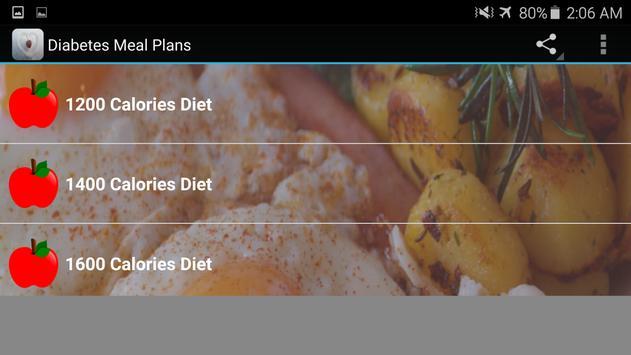 Diabetes Diet Charts apk screenshot