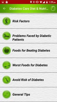 Diabetes Care Diet & Nutrition screenshot 1