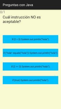 Preguntas con Java apk screenshot