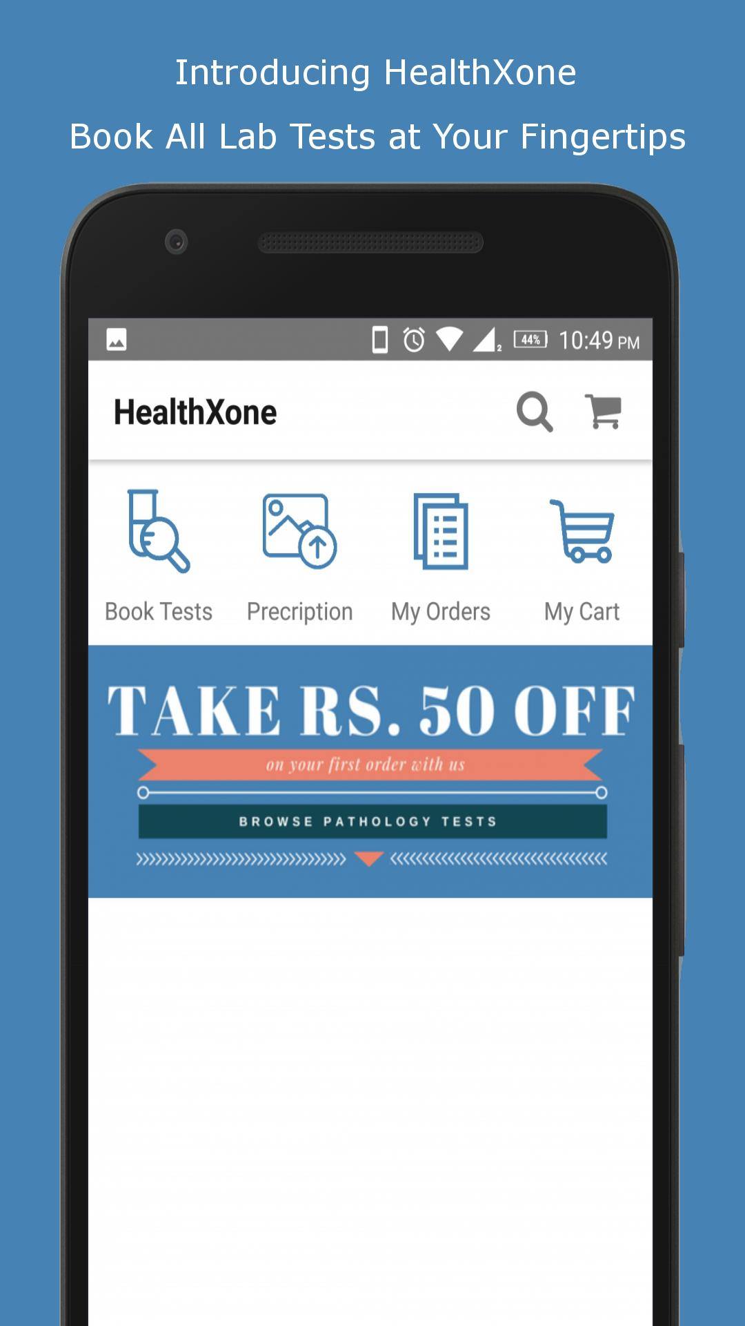 HealthXone (Book Lab Tests Services at Home) for Android
