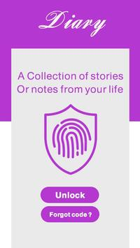 diary with a fingerprint lock & password for Android - APK