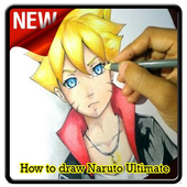 How to draw Naruto Ultimate icon