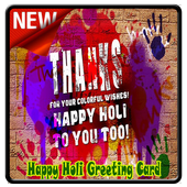 Happy Holi Greeting Card icon
