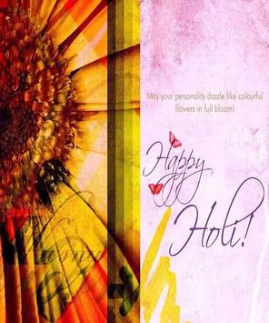 Happy Holi Greeting Card poster