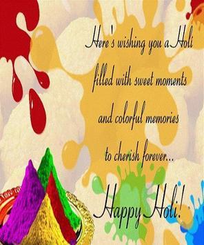 Happy Holi Speech Card screenshot 12