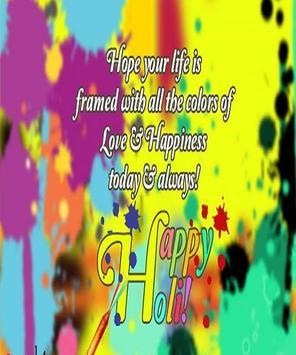 Happy Holi Speech Card screenshot 2