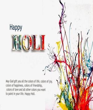 Happy Holi Speech Card screenshot 3