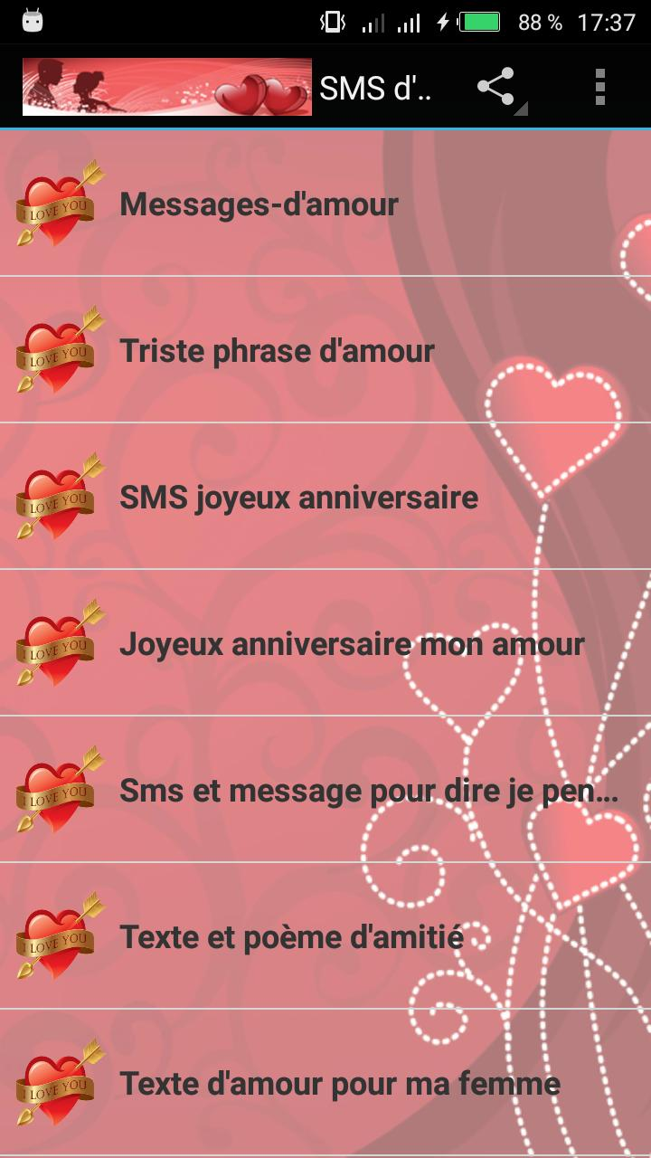 Sms Damour 2018 For Android Apk Download