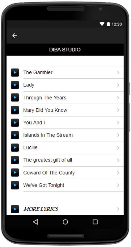 Kenny Rogers Lyrics&Music APK Download - Free Entertainment APP for ...