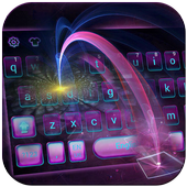 Tech Light Keyboard Theme Digital Light Ray icon