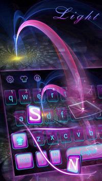 Tech Light Keyboard Theme Digital Light Ray poster