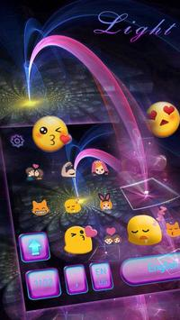 Tech Light Keyboard Theme Digital Light Ray screenshot 1