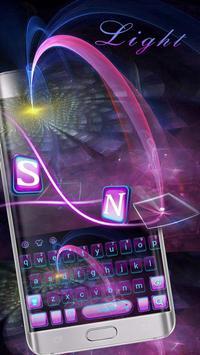 Tech Light Keyboard Theme Digital Light Ray screenshot 2