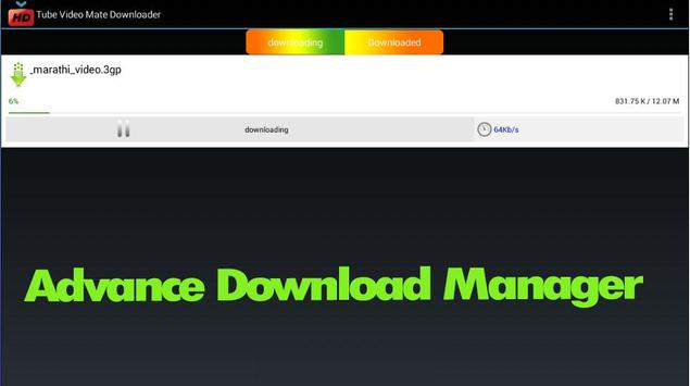 Tube Video Mate - Downloader apk screenshot
