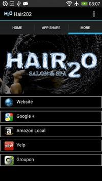 Hair2o apk screenshot