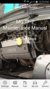 DAG MG TF2 Maintenance Manual poster