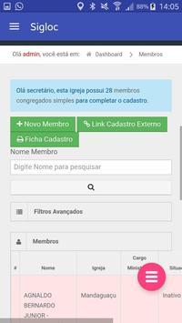Sigloc Gestão de Igrejas apk screenshot