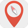 Digital compass - Map compass & Windy map ikona