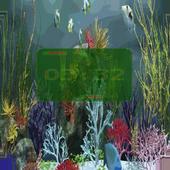 Aquarium Digital Clock icon