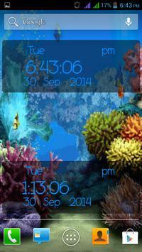 Aquarium Digital Clock apk screenshot
