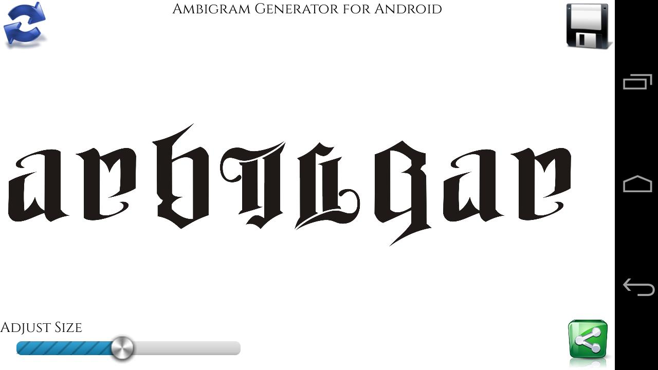 Ambigram Generator For Android Apk Download