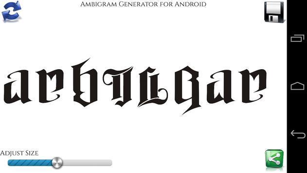 Ambigram Generator APK Download - Free Entertainment APP ...  Ambigram Free Creator