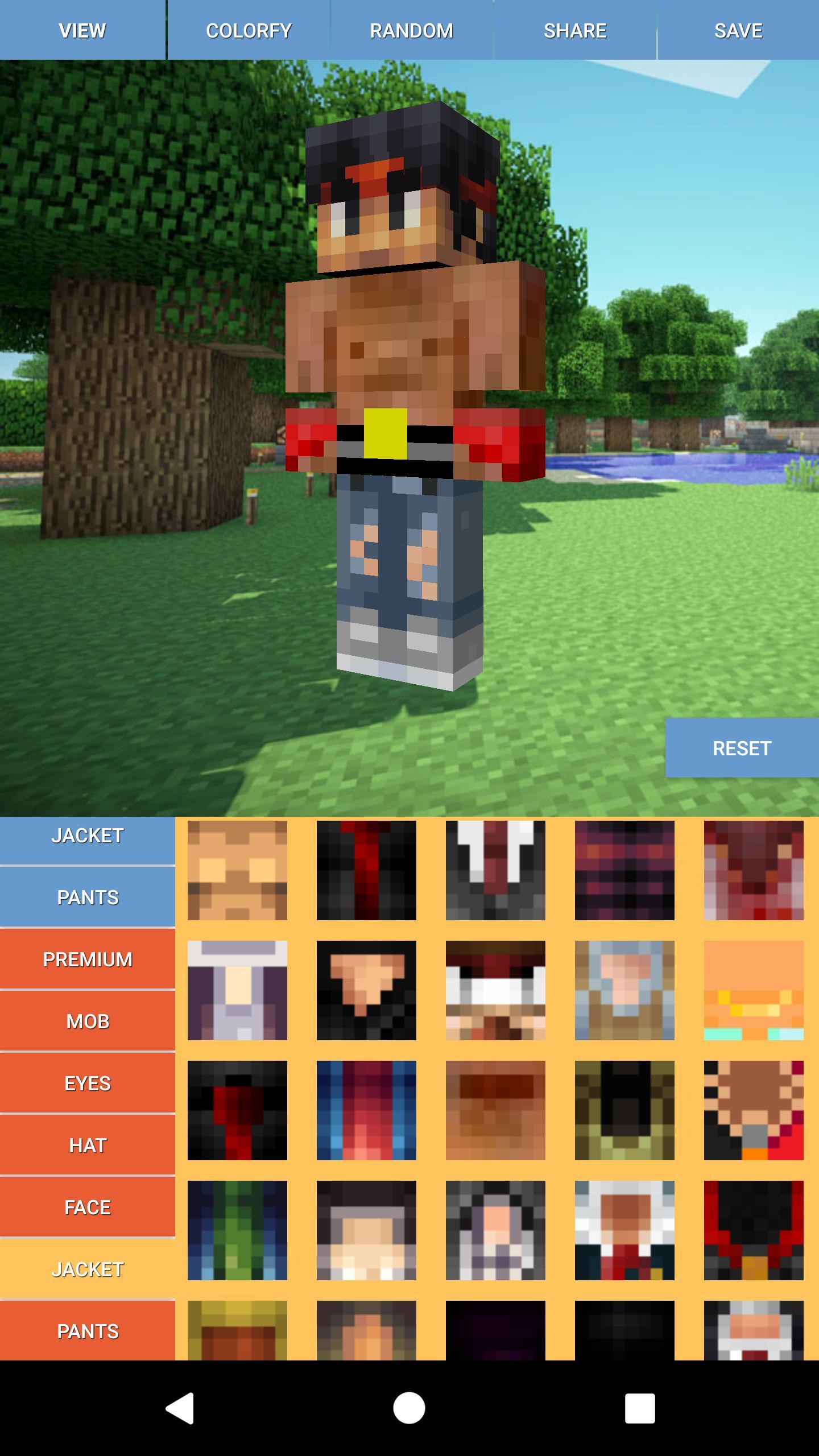 Custom Skin Editor Minecraft para Android - APK Baixar