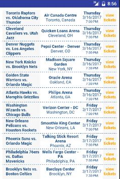 Tickets for NBA Games poster