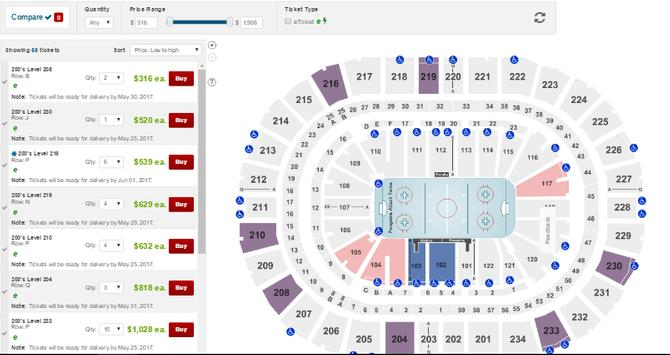Tickets for NHL Games screenshot 1