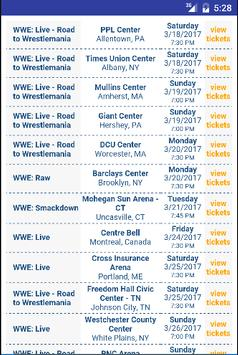 Tickets for WWE Events poster