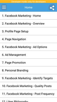 Learn Facebook Marketing poster
