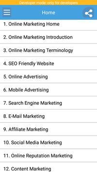 Learn Online Marketing poster