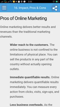 Learn Online Marketing apk screenshot