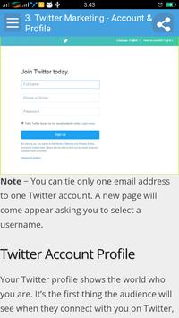 Learn Twitter Marketing screenshot 1
