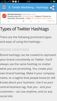 Learn Twitter Marketing screenshot 3