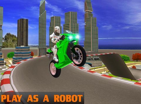 Robot Bike Stunts poster
