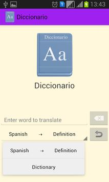 Diccionario apk screenshot