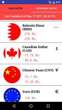 Gold & Exchange Rates screenshot 1