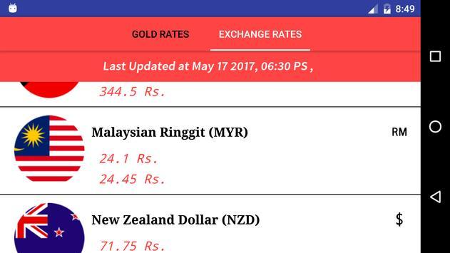 Gold & Exchange Rates screenshot 3