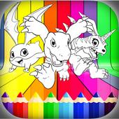 Digi-Mon Coloring Book icon