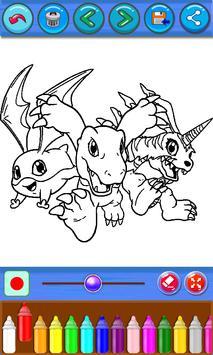 Digi-Mon Coloring Book screenshot 1