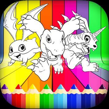 Digi-Mon Coloring Book screenshot 5