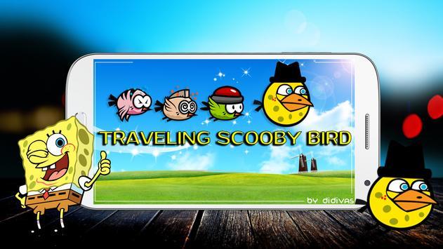 Traveling Spongy- Bird poster