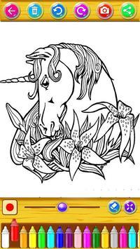 Unicorn Coloring Book screenshot 5