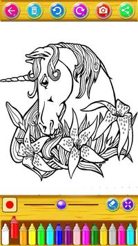 Unicorn Coloring Book screenshot 9